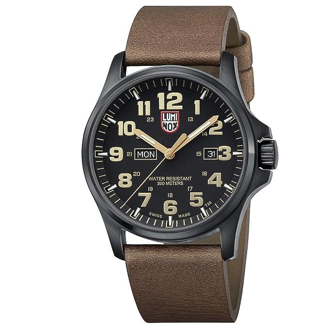 Luminox XL.1929 Reloj de pulsera Cuarzo Hombre correa de Cuero Marrón: Amazon.es: Relojes
