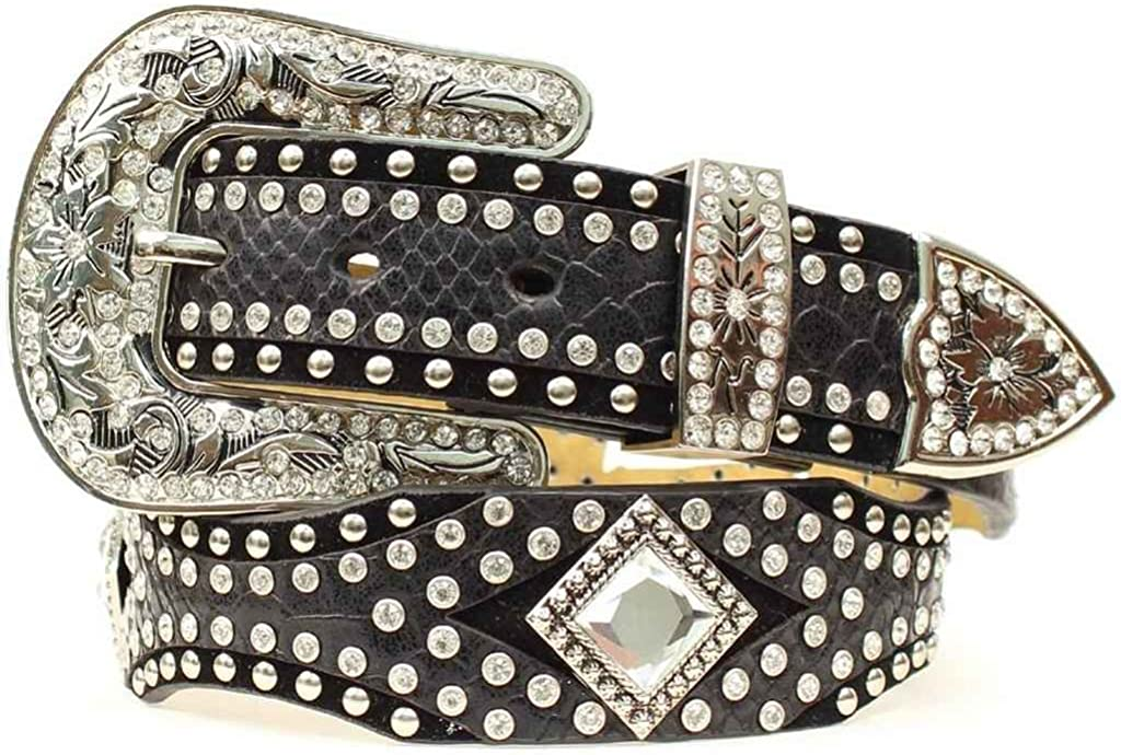 Nocona Belt Co Womens Diamond Concho Studded Suede And Smooth Leather N3411601