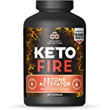 Ancient Nutrition KetoFIRE Capsules, 180 Count - Keto Diet Supplement with BHB Salts as Exogenous Ketones, Electrolytes and Caffeine
