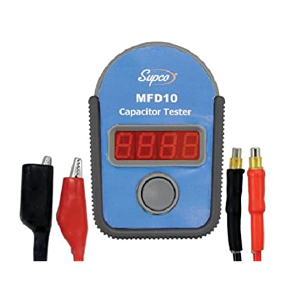 Supco MFD10 Digital Capacitor Tester with LED Display, 0.01 to 10000mF Range, 5% Accuracy: Industrial & Scientific