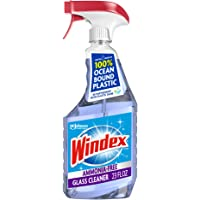 Windex Ammonia-Free Glass and Window Cleaner Spray Bottle, Bottle Made from 100% Recycled Plastic, Crystal Rain Scent…