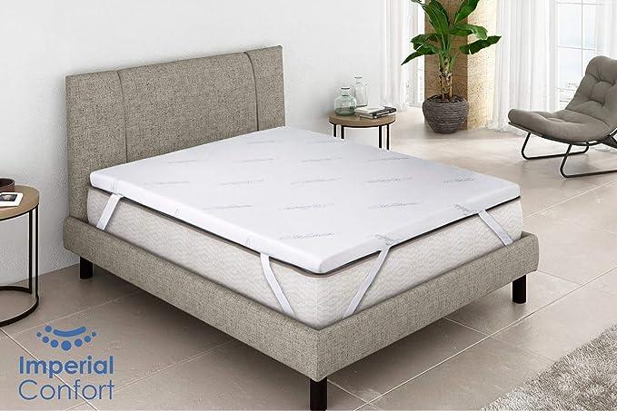 Imperial Confort - Topper viscoelástico - Ideal para aliviar tensiones musculares y puntos de presión - Grosor 5 cm - 135x190