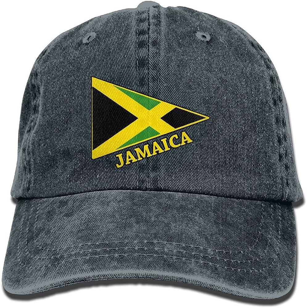 Jamaica Flag Fashion Washed Cap Adjustable Baseball Cap Dads Stetson Hat