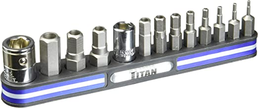 Titan Tools 16136 Tamper Resistant Metric Hex Bit Set On Magnetic Rail