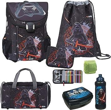 6 Set Schulrucksack Tasche Ranzen Federmappe Sportbeutel Junge Game Spiel Pixel