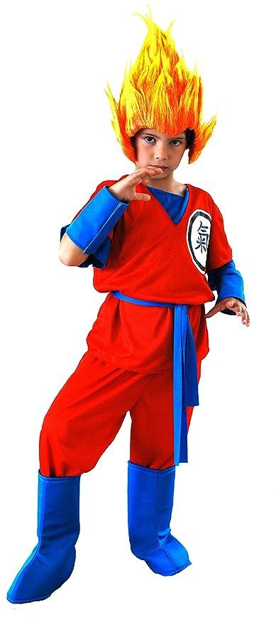 EL CARNAVAL Disfraz Son Goku Talla de 8 a 10 años: Amazon.es ...
