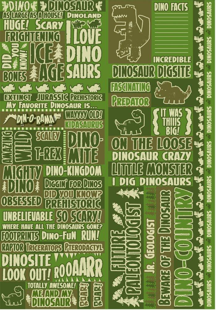 Reminisce Dinorama Quote Sticker by Reminisce B003VWMJXK