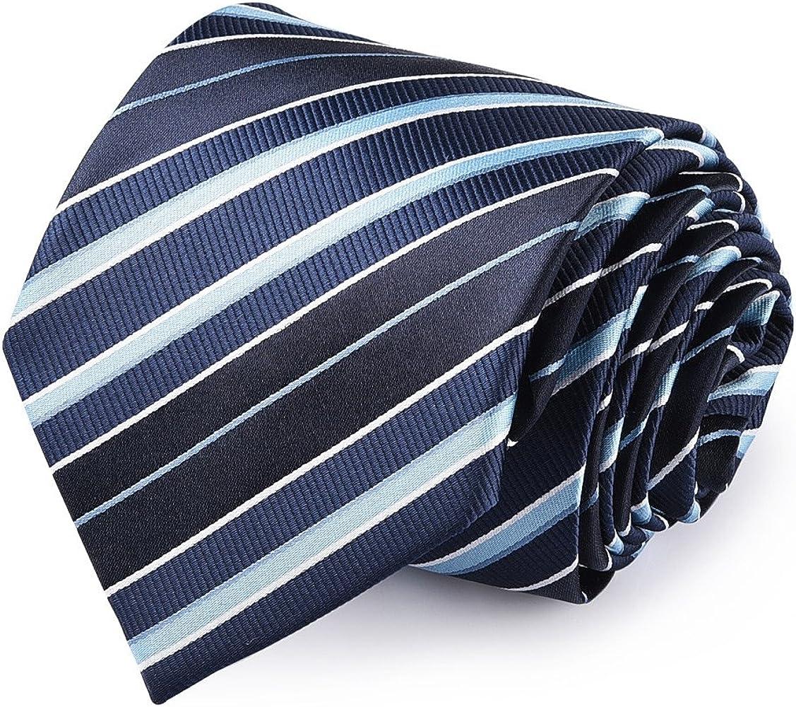 Vbiger Corbatas de Hombre 4 in 1 con 100% Poliéster (Azul 3): Amazon.es: Ropa y accesorios