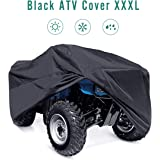 INNOGLOW 210T XXXL(265x140x110CM) ATV Cover Waterproof All Weather Durable Universal Storage Dustproof Wind-proof UV Protection Fits Up Mule Gator Prowler YAMAHA Prowler Rancher Foreman Fourtrax Recon