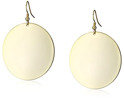 Amazoncom Kenneth Jay Lane Polished Gold Disc Earrings Jewelry