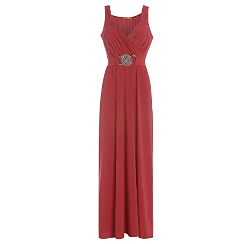 Blush Avenue® Womens Sleeveless Buckle Maxi Evening Dress