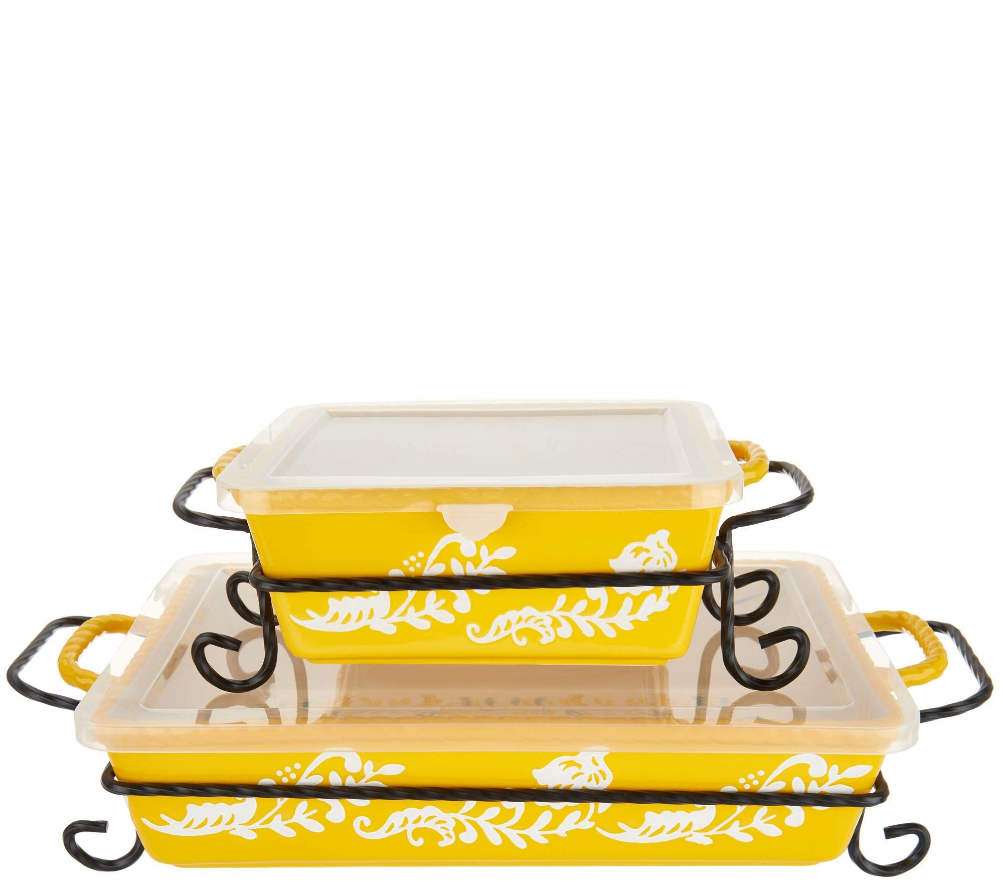 Valerie Bertinelli 4-Piece Bake & Serve Set w/Lids Model K46773 by Valerie Bertinelli