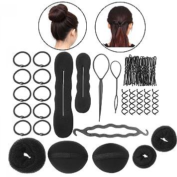PIXNOR BRICOLAJE accesorios de peinado herramientas Kit Set para mujeres fd3dbce43d1b