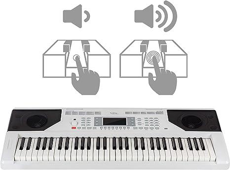 Schwarzes Einsteiger-Keyboard mit 61 Standard-Tasten Mikrofon /& Lernfunktionen