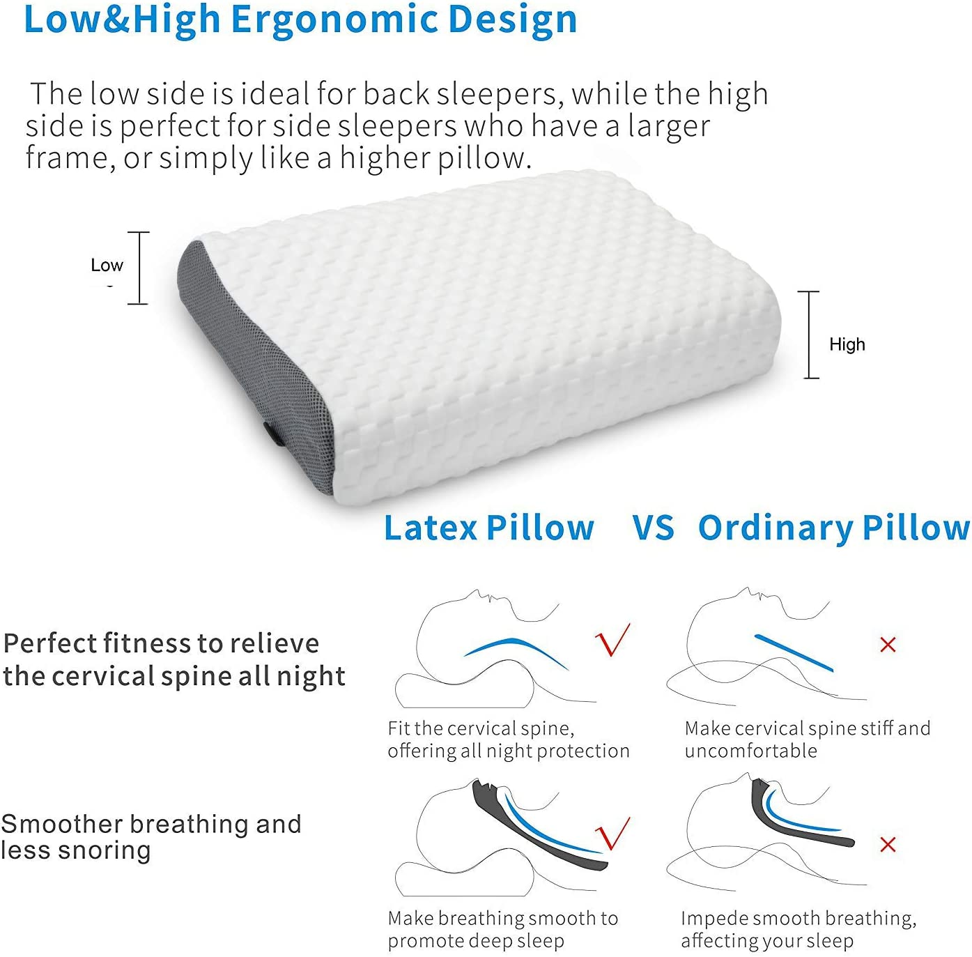 UUQ Latex Pillow Low & High