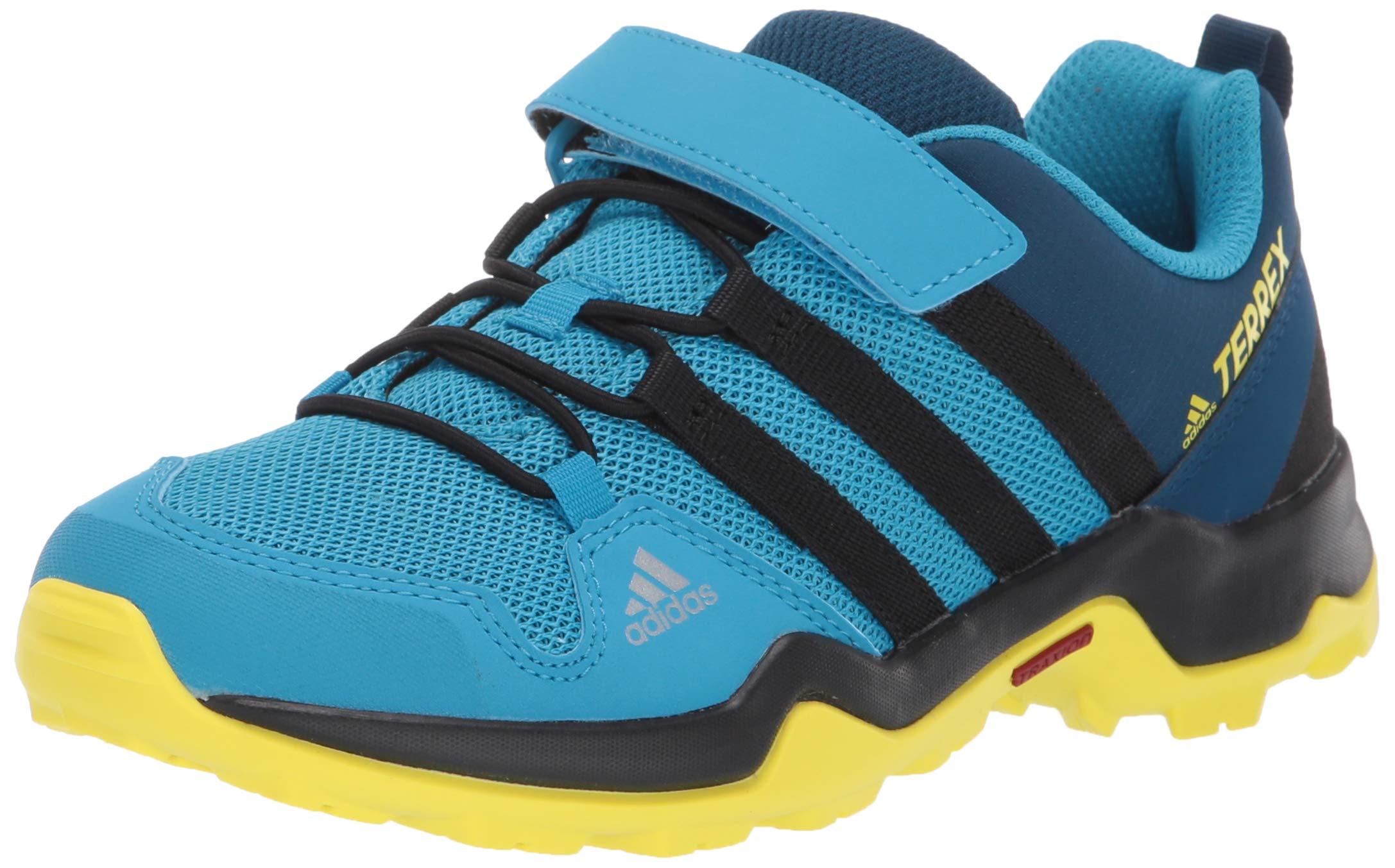 adidas outdoor Terrex AX2R CF Kids Hiking Shoe Boot, Cyan/Black/Shock Yellow, 10.5K Child US Little by adidas outdoor