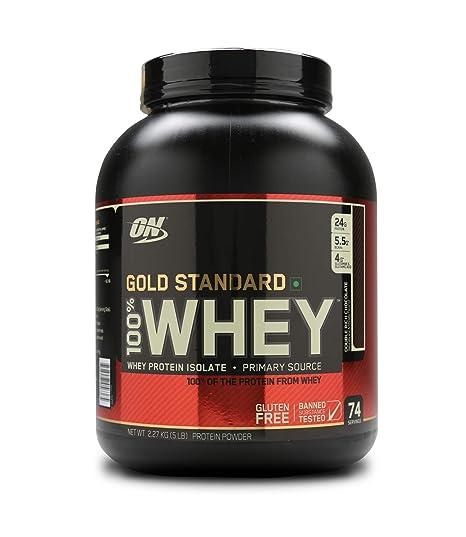 Optimum Nutrition (ON) Gold Standard 100% Whey Protein Powder - 5 lbs,