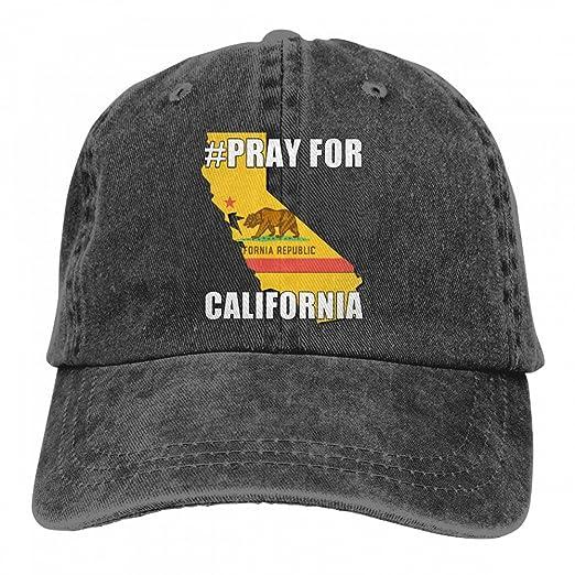 c5be015973d Best4U Me Unisex Vintage Washed Dad Hat Pray for California Popular ...