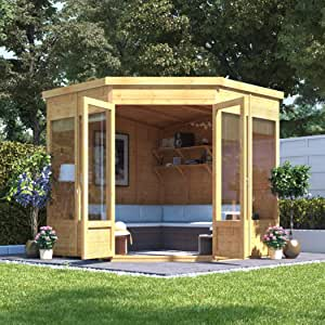 Casa para jardín, BillyOh Picton, con sistema de ensamblaje machihembrado, con tejado inclinado y aislamiento para el tejado, 2, 15 x 2, 15 m: Amazon.es: Jardín