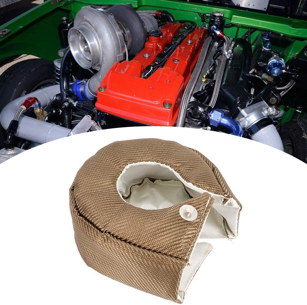 Turbo Blanket,Single Titanium Turbo Heat Shield Blanket Barrier Turbo Charger Cover T3//GT35//GT37//GT40//GT42