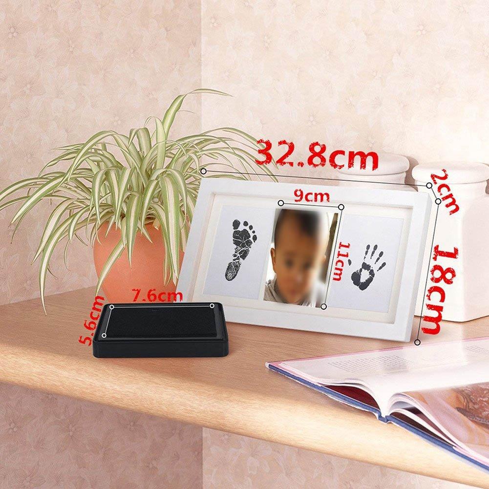 Daorier Cadre de Photo Cadre Photo Art Pour B/éb/é et Enfant pour Enregistrer Toujours B/éb/é Empreinte Handprint Cadeau pour le Nouveau-n/é 33/×18cm Encre
