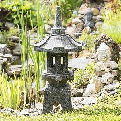 Wanda collection Linterna Japonesa Pagoda Zen de Piedra de Lava 80 cm: Amazon.es: Jardín