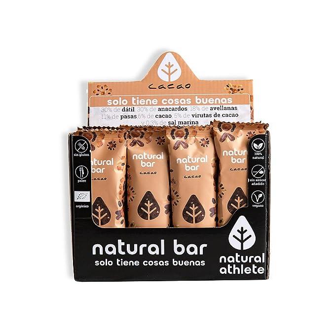 Barritas energéticas -Natural Athlete- 100% natural y orgánico, sin azúcar añadido.