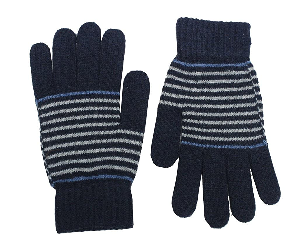 Romano Mens Premium Blue Warm Winter 100/% Wool Gloves