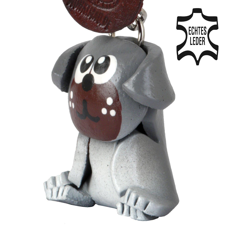 Carlino Pug Molly - Perros llavero Figura de piel de ...