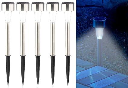 Häufig PEARL LED Gartenleuchten: 5er-Set Mini-Solar-LED-Wegeleuchten mit KI68