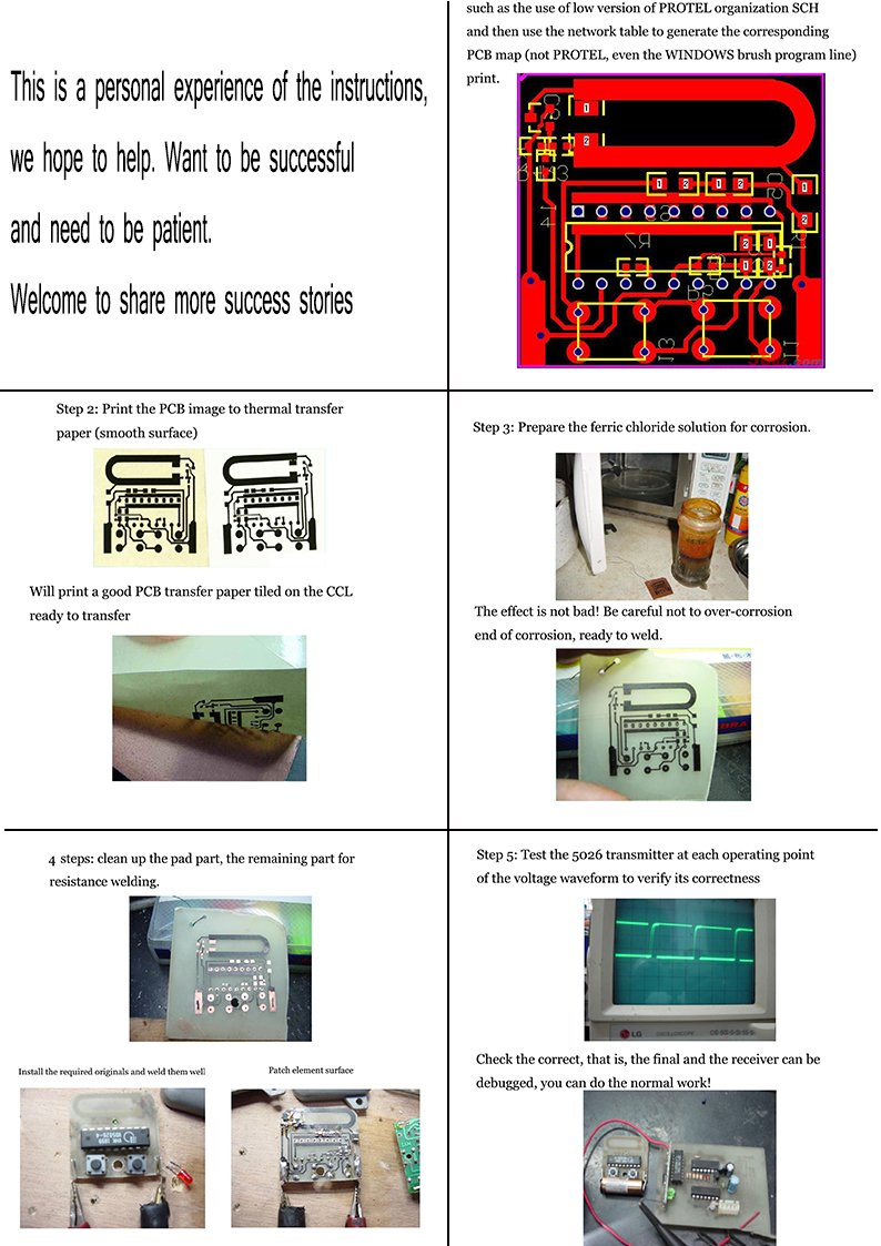 10 Pcb Circuit Board Thermal Transfer Paper A4 Size Diy Do It Yourself Printed Boards Special