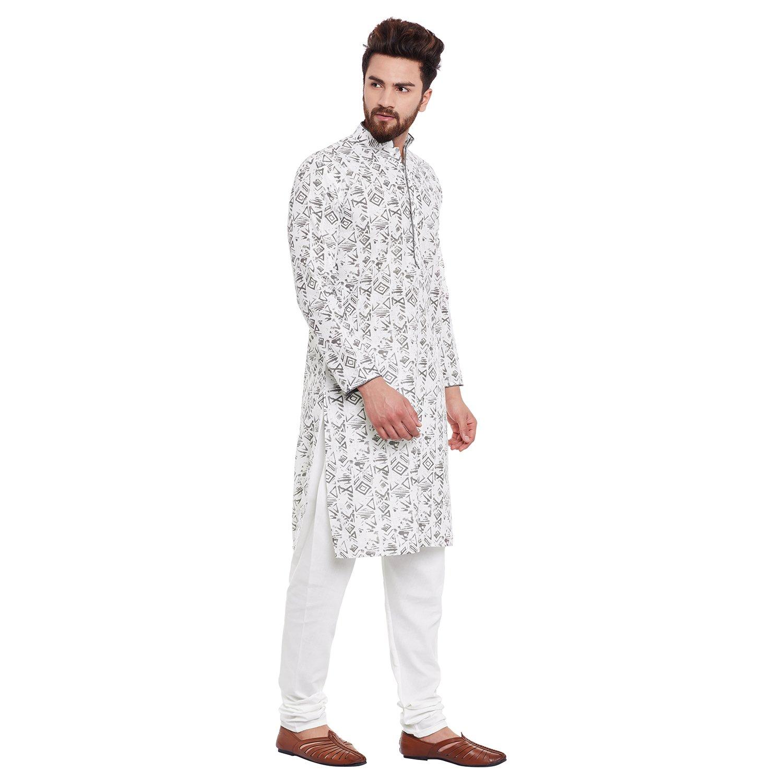 Indian-Traditional-Kurta-Pajama-Set-Shirt-Printed-Men-Kurta-Ethnic-Wear-XS-5XL thumbnail 19