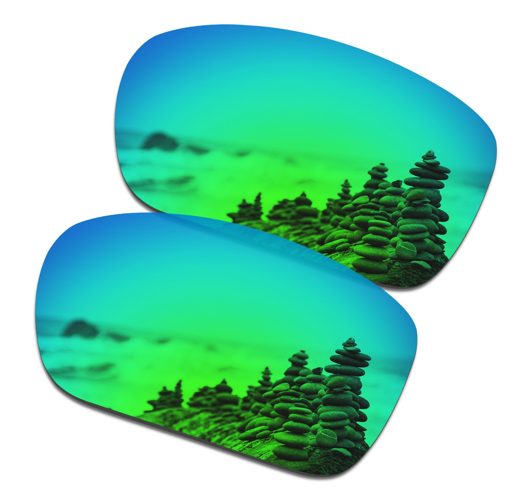SmartVLT Men's Emerald Green Replacement Lenses for Oakley TwoFace Sunglass by SmartVLT