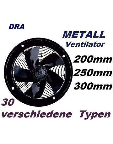 neverest RV-B 125 mm Profi Rohrventilator Rohrl/üfter Abluftventilator L/üftung 490 m/³//h