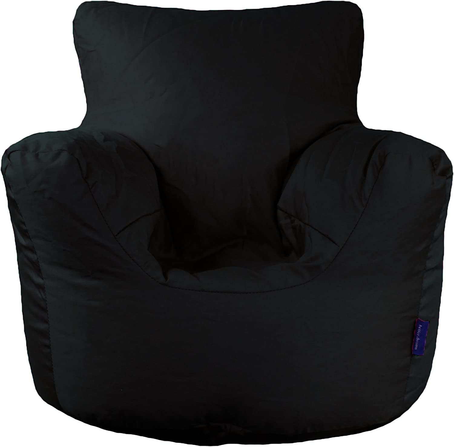 Childrens Bean Bag Chair In Two Sizes And Nine Colours 100/% Cotton Twill Black, Small 50x50x50cm