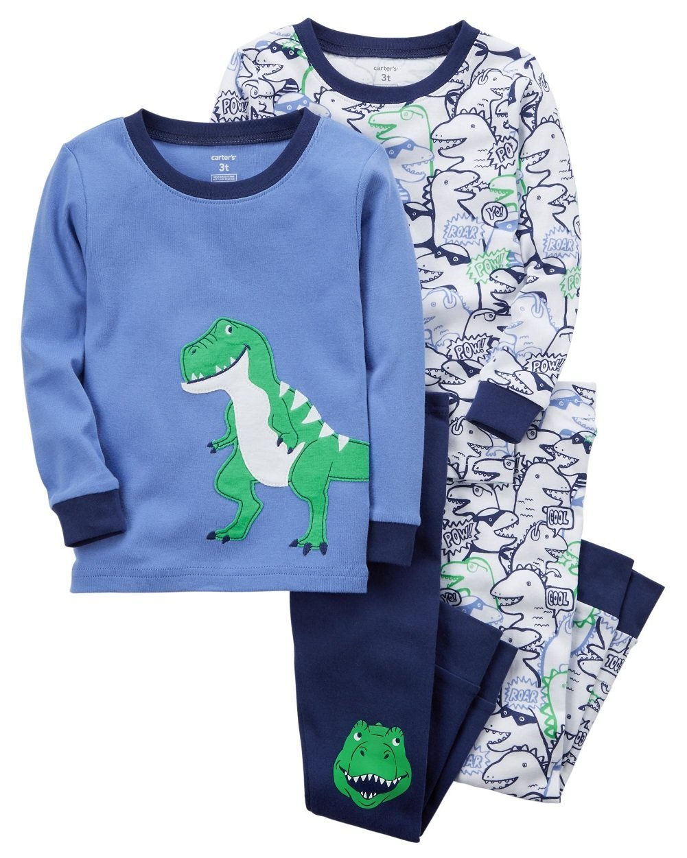 13bf977e6d52 Carter s Boys  2T-5T 4-Pc. Dinosaur Snug Fit Cotton Pajama Set 2T ...