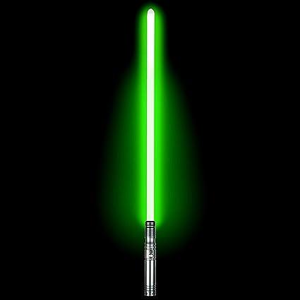"""38/"""" Removable Blade Lightsaber Backlit Switch NEW Aluminum Hilt Green LED"""