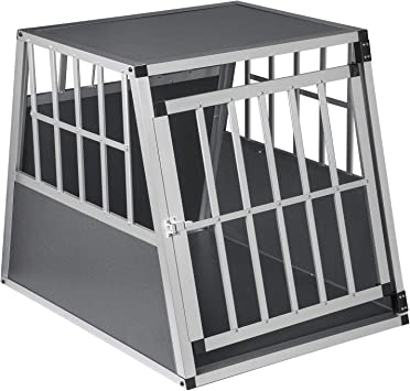 Eugad Hundebox Transportbox Hundetransportbox Alu Reisebox Gitterbox Box L 85 X B 65 X H 69 Cm 0005ll Haustier