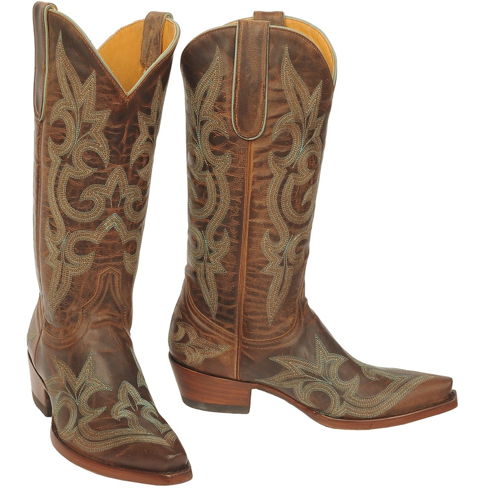 Old Gringo Inc Womens Diego Tan/Turquoise Matching Top Boots 7.5 B(M) US Brown
