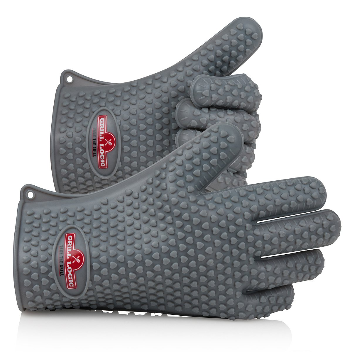 Grill Logic - Heat Resistant Silicone BBQ Gloves One Size Fits Most