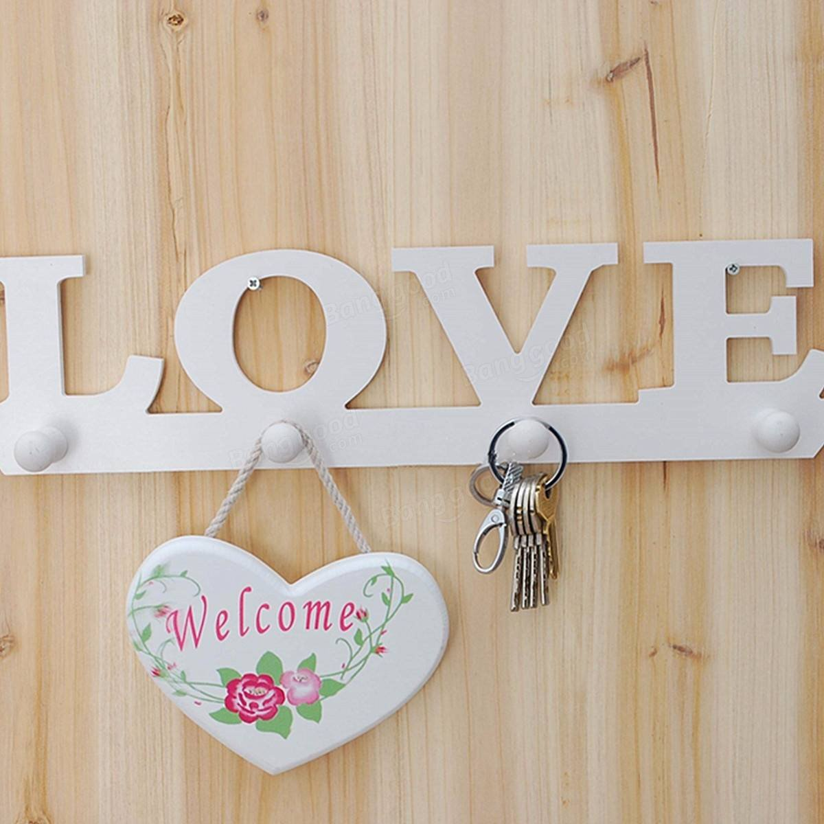 Gown Bait - Creative Vintage White Love Robe Hook Cloth Holder Sundry Hanger Wall Decor - Knock Shot Sweetener Mitt Come-On Vest Lure Crotchet Mauler - 1PCs