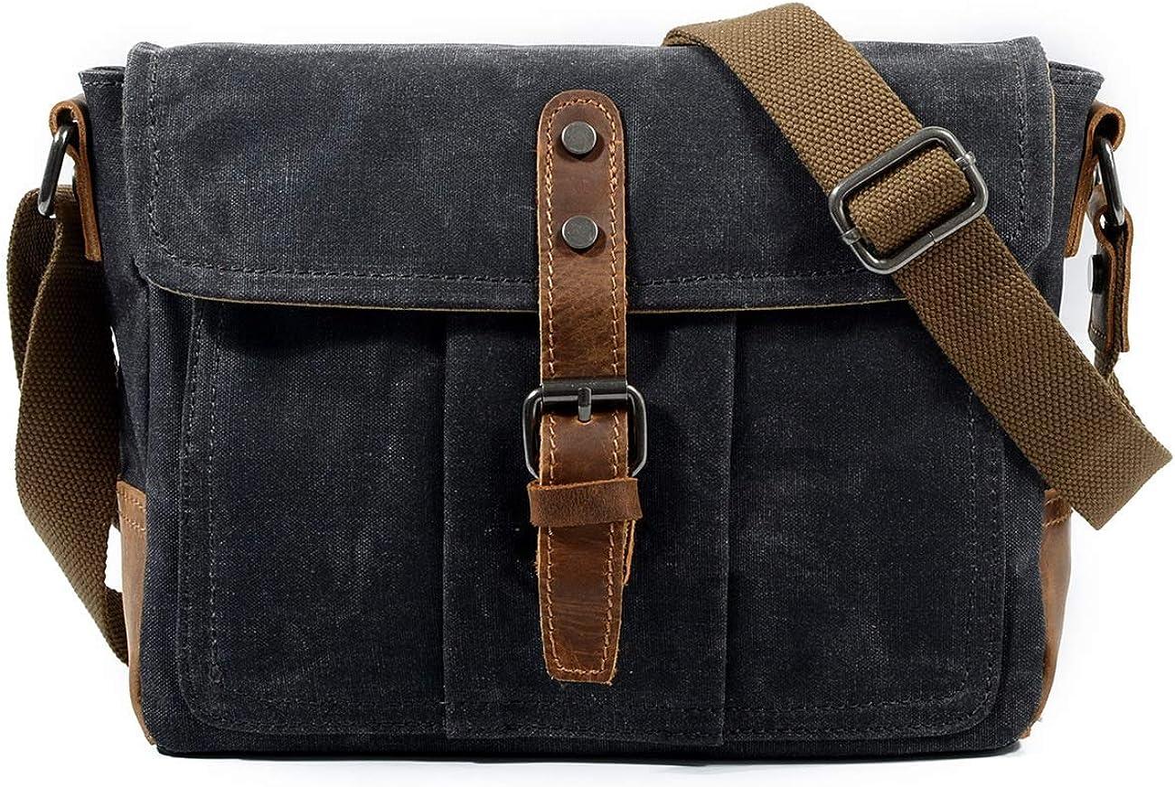 JFIDSJ Car Sticker Vintage Messenger Bag Canvas Mens Bag Shoulder Bag Mens Messenger Bag Waterproof Mens Bag