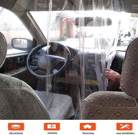 2 St/ücke Auto Isolation Folie Auto Antibeschlag Schutz H/ülle Taxi Transparente Folie und 2 St/ücke Clip N/ägel mit 2 St/ücke und Schleife f/ür Taxi Vorderseite und R/ückseite Zubeh/ör