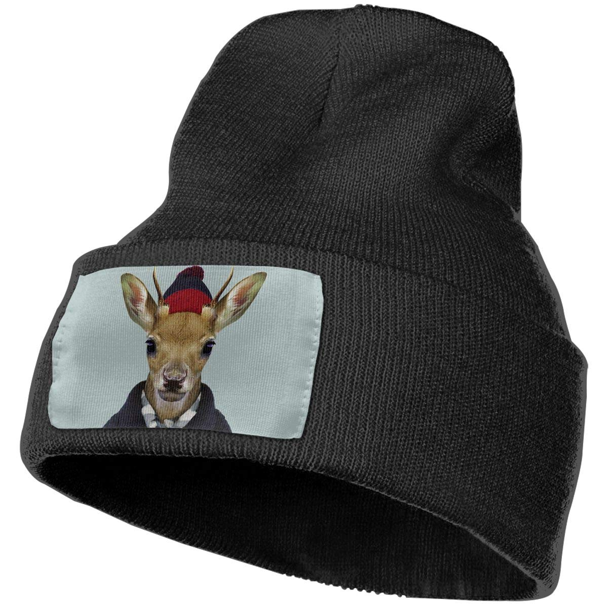 Animals Dressed Like Humans Beanie Hat Cuffed Plain Skull Knitted Cap Fashion