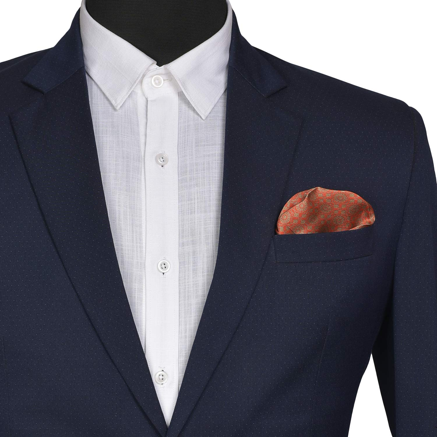 Indian At Heart line/_ Chokore Red /& Golden Silk Pocket Square IH81404/_65AE