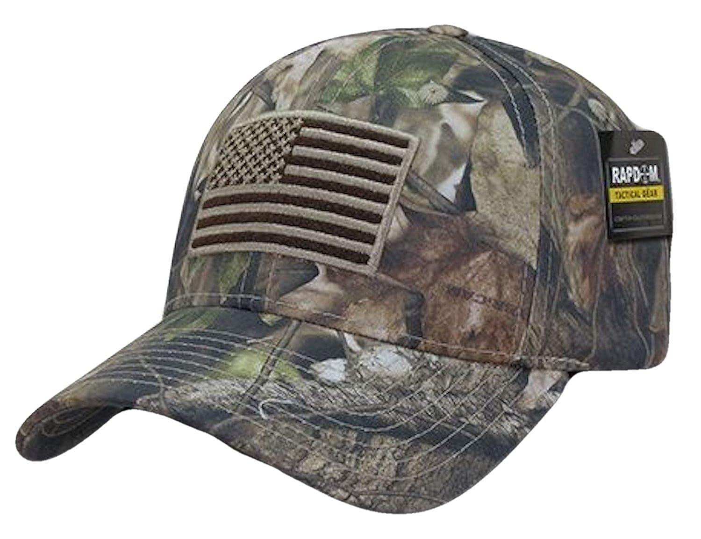 Amazon.com  US American Flag Hybricam Mossy Camouflage Camo Baseball Cap  (One Size 030cbfb2862