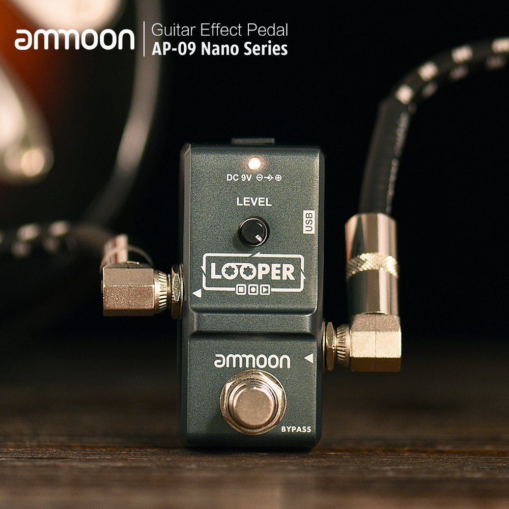 ammoon AP-09 Nano Loop Electric Guitar Effect Pedal Looper True Bypass Unlimited Overdubs 10 Minutes Recording with USB Cable by ammoon (Image #7)