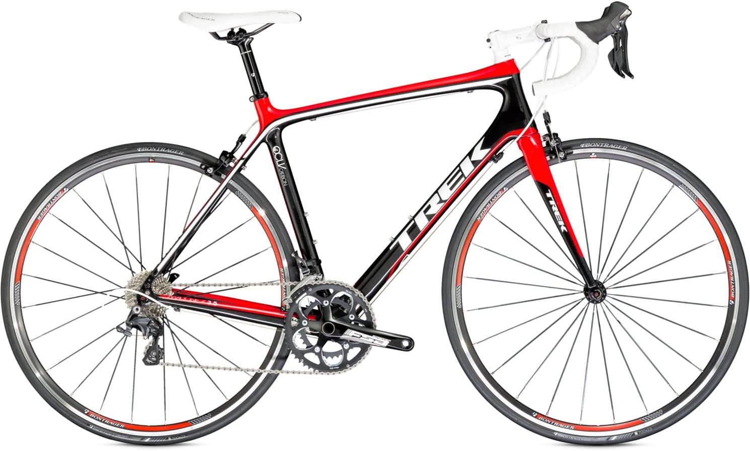 TREK Madone 3.5 - bicicleta de carretera 2014 negro rojo RH 60 cm ...