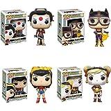 Pop! Heroes: DC Bombshells Harley Quinn, Batgirl, Wonder Woman, and Katana! Set of 4