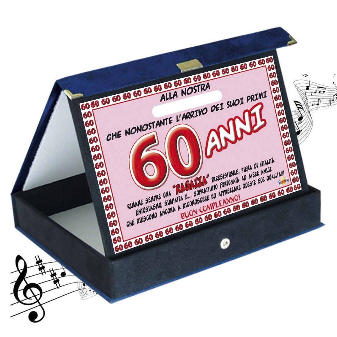 Articolo idee regalo Targa premio compleanno sonora 60 anni amica